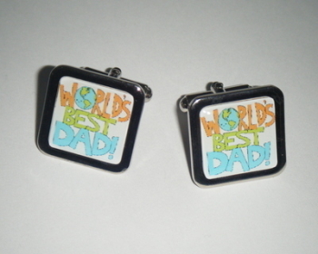 World's Best Dad Square Cufflinks