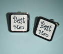 Black on white BEST MAN Cufflinks