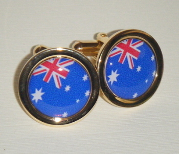 Australian Flag - Commonwealth Blue Ensign - Round Cufflinks