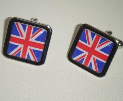 Union Jack UK British - Square Cufflinks