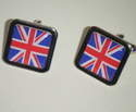 Union Jack UK British - Square Cufflinks