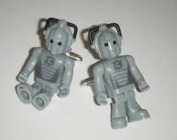 Cybermen Dr Who  -  Micro Figure Cufflinks