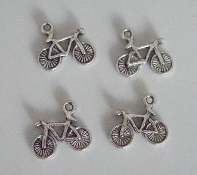 Bicylcle Charms - Tibetan Antique Silver tone