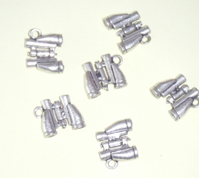 Binocular Twitcher Charms - Tibetan Antique Silver tone
