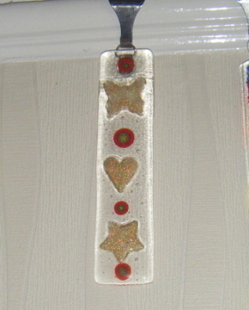 Millefiori Butterfly, Heart and Star Funky Art Glass Suncatcher