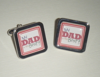 My Dad is the Best Square Cufflinks