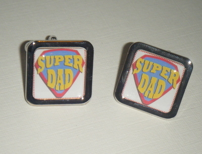 Super Dad Square Cufflinks