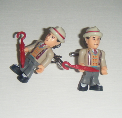 Sylvester McCoy 7th Dr who  -  Micro figure Cufflinks