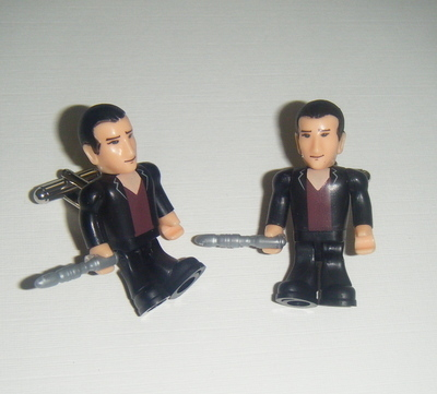 Christopher Eccleston 9th Dr who  -  Micro figure Cufflinks