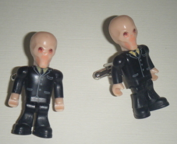 The Silence Dr who  -  Micro figure Cufflinks