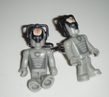 Cybermen with Brain Dr who  -  Micro figure Cufflinks