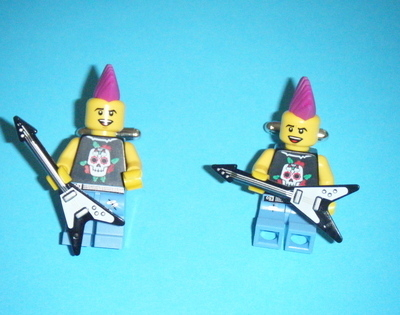 Punk Rocker -  Micro figure Cufflinks