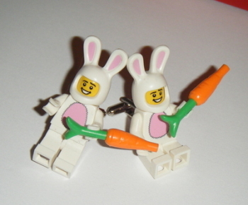 Rabbit with Carrot -  Micro figure Cufflinks