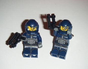 Alien Warrior Spaceman  -  Micro figure Cufflinks