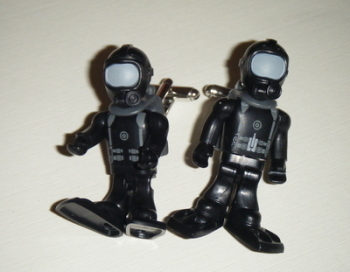 Navy Seal Diver  -  Micro figure Cufflinks