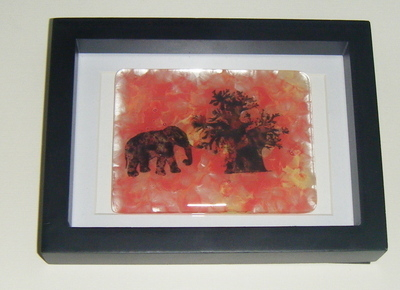 African Sunset - Framed Glass Picture Tile