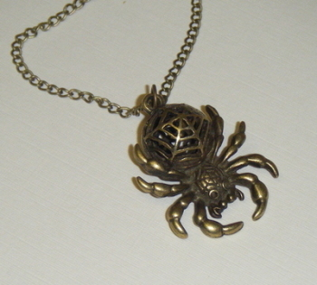 Necklace - Bronze tone - Radioactive Spider Pendant