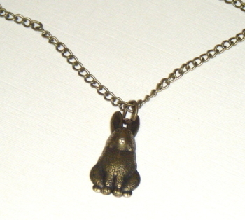 Necklace - Bronze tone - Cute Rabbit Pendant
