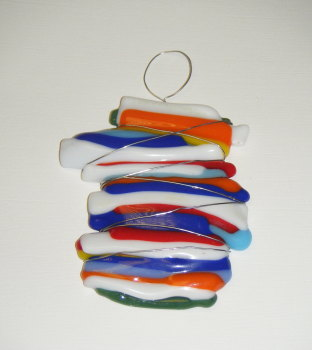 Multi Colour Wire Wrap Wall Art Glass fusion