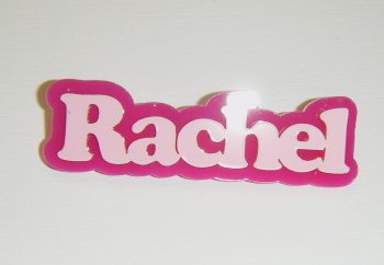 Bespoke Custom Double Colour Name Brooch