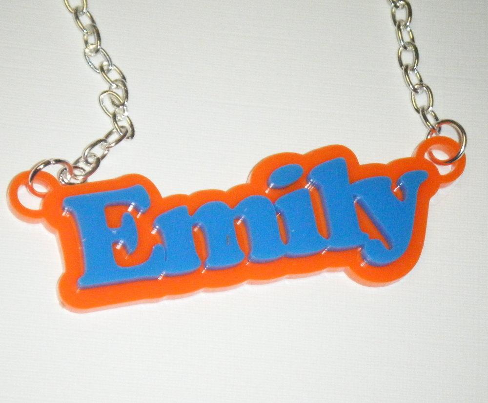 Bespoke Custom Double Colour Name Necklace
