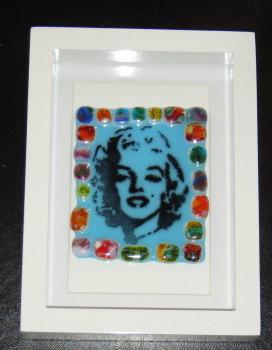 Marilyn Monroe Mosaic - Framed Glass Picture Tile