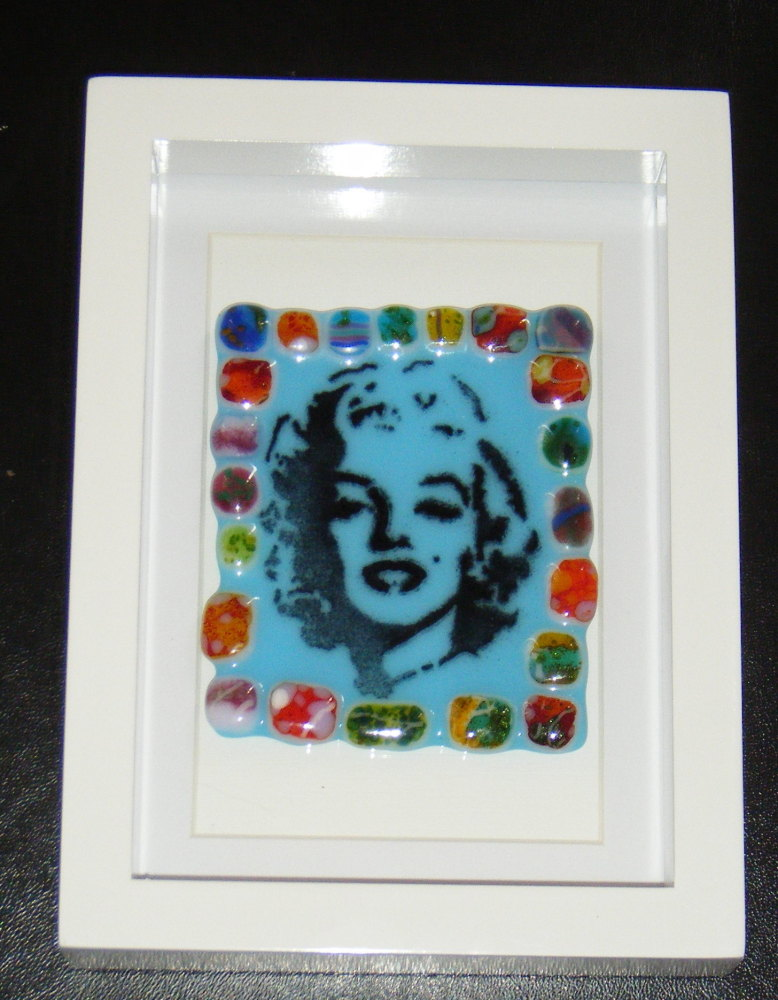 Marilyn Monroe Mosaic - Framed Glass Picture Tile