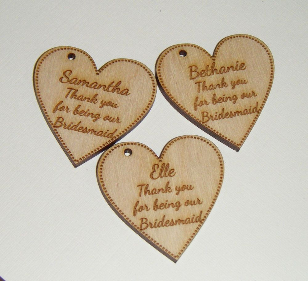 Wooden Heart Medium Gift Tag - Business or Wedding etc