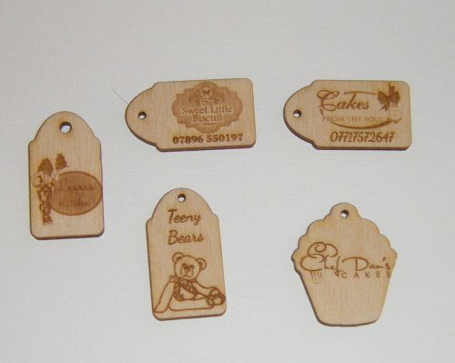 10 x Wooden Mini Gift Tag - Business or Wedding etc