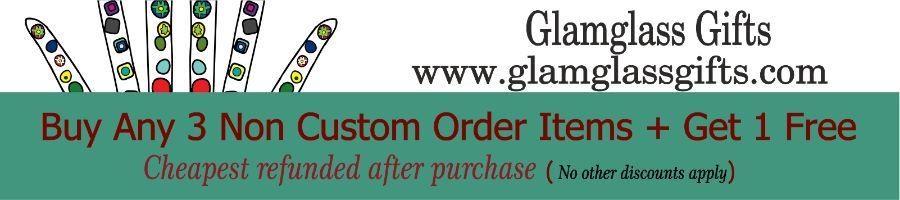 www.glamglassgifts.com, site logo.