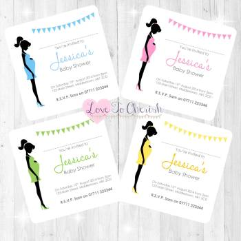 Mummy Bump Invitations - Baby Shower Design