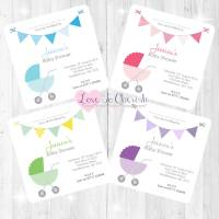 Pram/Stoller Invitations - Baby Shower Design