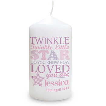 Twinkle Girl's Candle