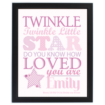 Twinkle Girl's Black Frame Poster