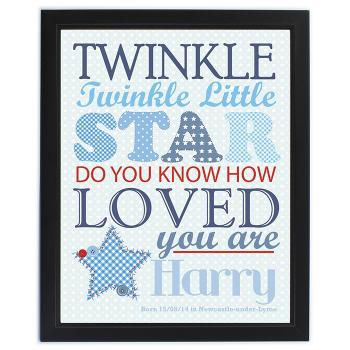 Twinkle Boy's Black Frame Poster