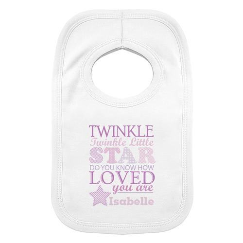Twinkle Girl's Baby Bib