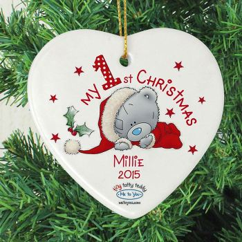 Me To You 'My 1st Christmas' Ceramic Heart Decoration