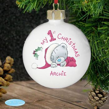 Me To You 'My 1st Christmas' Ceramic Bauble
