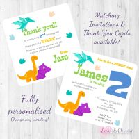 Dinosaur Party Invitations & Thank You Cards