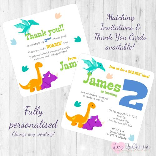 Dinosaur Party Invites & Thank You Cards