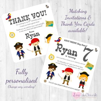 Pirate Ship Mates Party Invitations & Thank You Cards