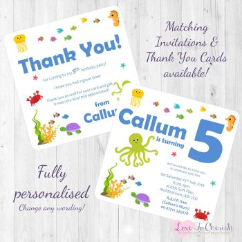 Under The Sea Party Invitations & Thank You Cards