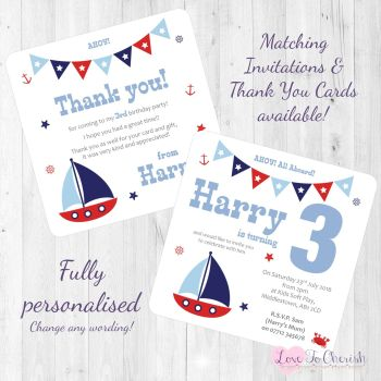 Sail Boat / Yacht Nautical Themed
