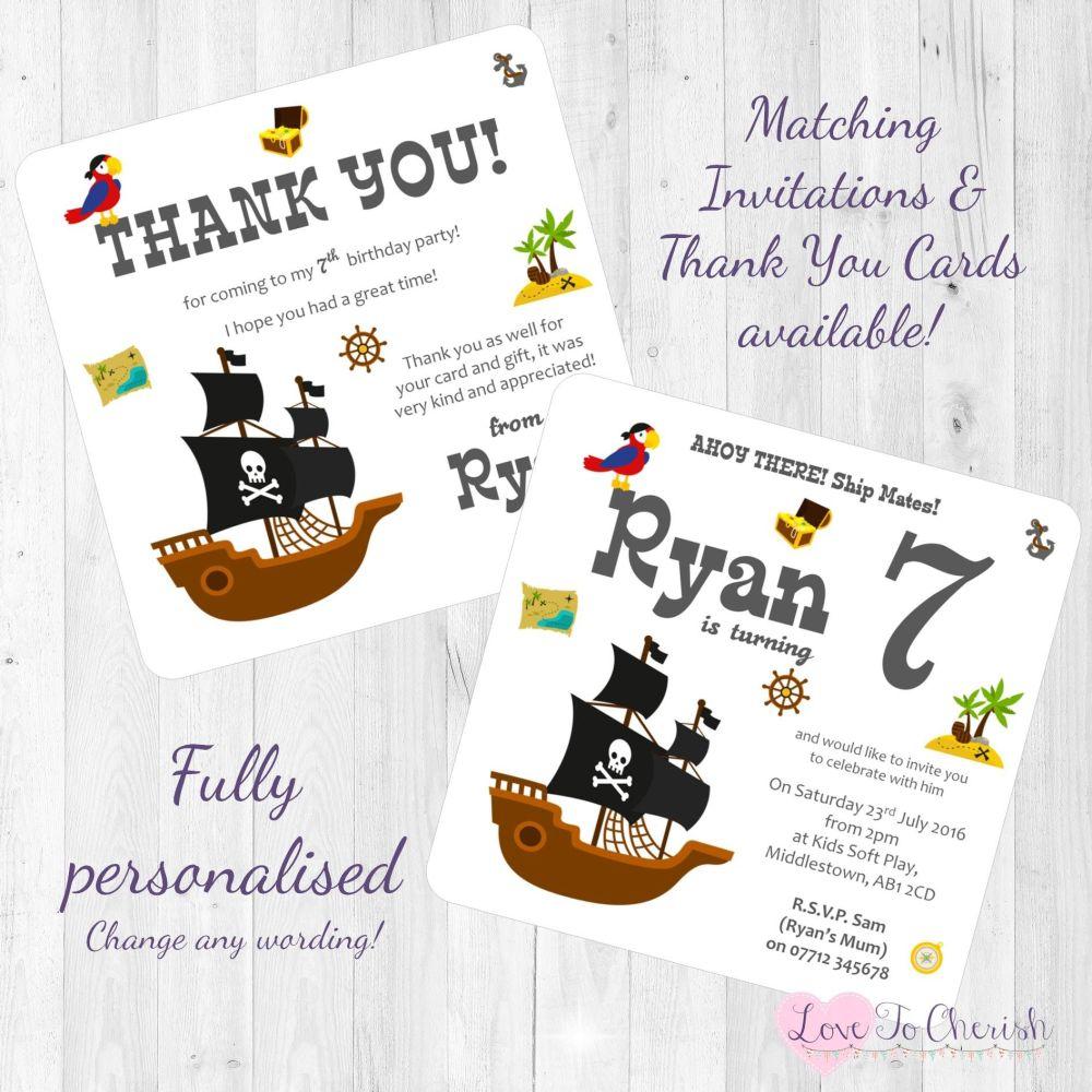 Pirate Ship Invites