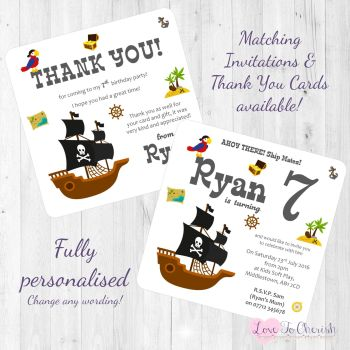 Pirate Ship Party Invitations & Thank You Cards