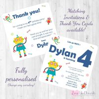 Funky Robots Party Invitations & Thank You Cards