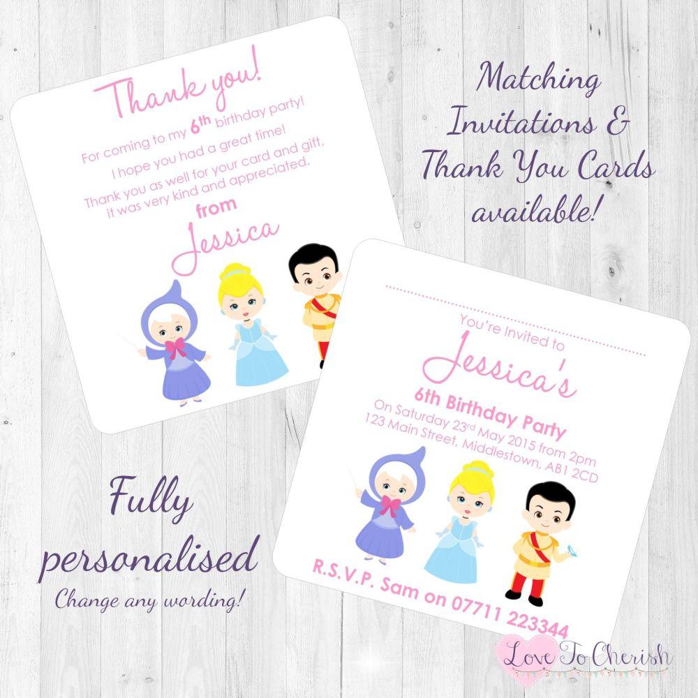 Cinderella & Fairy Godmother Invites