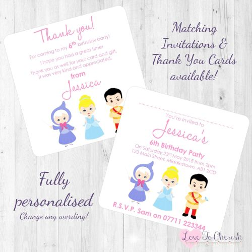 Cinderella & Fairy Godmother Invites
