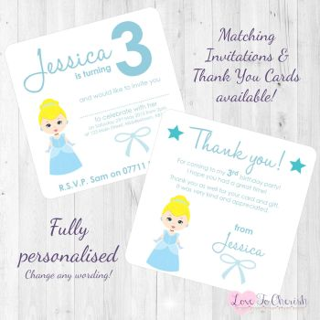Cinderella Party  Invitations & Thank You Cards