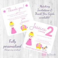 Cinderella & Pumpkin Carriage Party  Invitations & Thank You Cards